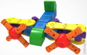 Объемный набор из пластика и магнитов