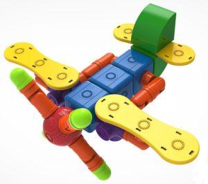Модель самолета из Magnetic blocks